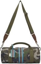 Valentino Green Camo Stripe Duffle Bag