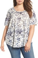 Lucky Brand Plus Size Women's Floral Print Tee