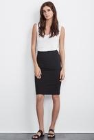 Treva Cotton Pencil Skirt