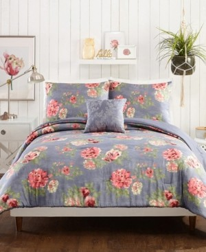 Jessica Simpson Alessia Floral 4-Piece King Comforter Set