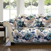 Nobrand No Brand Floral Paisley Loveseat Furniture Protectors - Blue