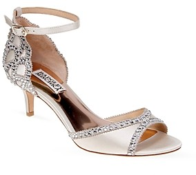Badgley Mischka Gillian Embellished Ankle Strap Sandals