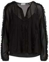 RED Valentino Sheer silk blouse