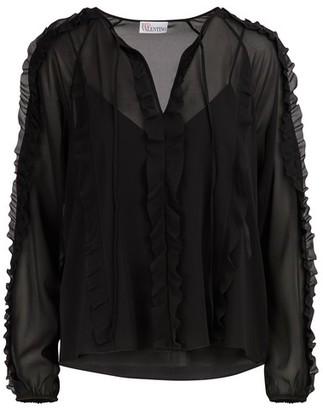 RED Valentino Sheer silk blouse