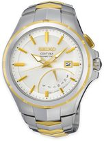 Seiko Coutura Kinetic Retrograde Men's Watch in Two-Tone Stainless Steel