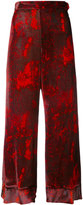 Ellery high-rise flared cropped trousers - women - Silk/Rayon - 8