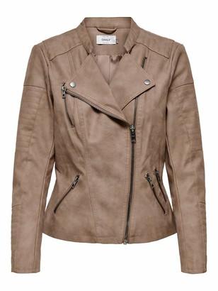 Only Women's Onlava Faux Leather Biker Otw Noos Jacket