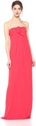 Halston Women's Strapless Front Tie Detail Gown