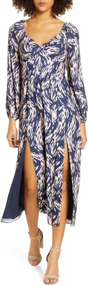 Ali & Jay Art Snob Long Sleeve Print Dress