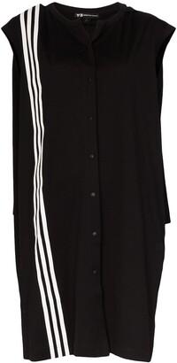 Y-3 Three-Stripe Cape Dress