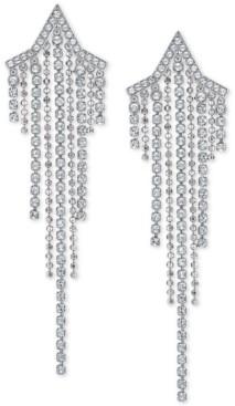 Swarovski Crystal & Ball Chain Shooting Star Statement Earrings