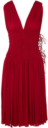 Alaia Shirred Pleated Jersey Dress