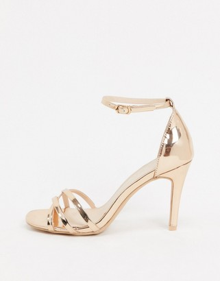 Miss KG square toe strappy heeled sandals