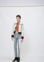 Courreges ivoire shearling jacket