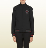Gucci Black Zip-Up Jacket With Crest From Equestrian Collection