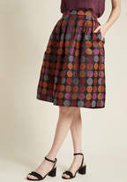 ModCloth Artfully Jacquard Fit and Flare Skirt in 4 - Full Skirt Mid