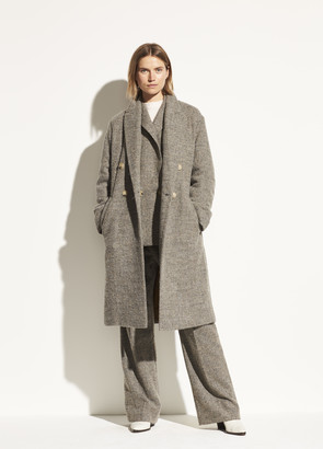 Pebble Texture Wool Coat