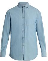 Brunello Cucinelli French-collar Cotton-denim Shirt
