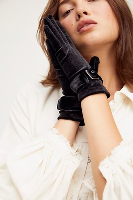 Carolina Amato Ladies First Velvet Buckle Gloves