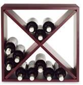 Wine Enthusiast 24-Bottle Compact Wood Cube Wine Rack