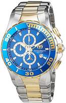 Technomarine Women's Quartz Watch with Blue Dial Chronograph Display and Gold Stainless Steel Bracelet TM-215047