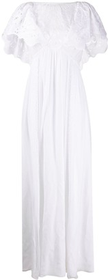 Alberta Ferretti Embroidered Chest Dress