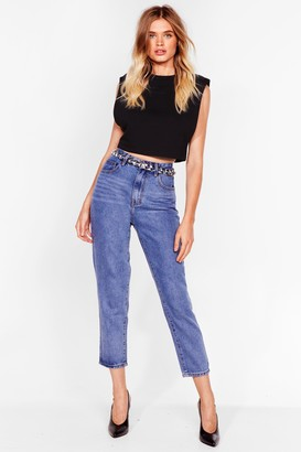 Nasty Gal Womens Debbie High-Waisted Short Jeans - Blue - 6