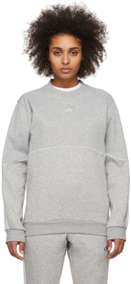 adidas Grey Outline Crewneck Sweatshirt