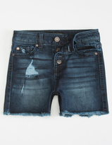 Celebrity Pink Mid Rise Frayed Hem Girls Denim Shorts