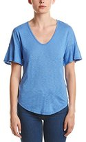 Splendid Women's Ss Slub V Neck with Ruffle