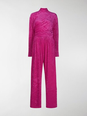 Balenciaga Textured Wrap Style Jumpsuit
