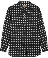 Burberry Printed Linen Shirt - Black