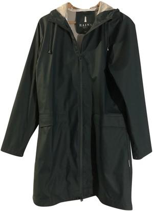 Rains Green Trench Coat for Women