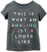 Carter's Girls 4-8 Short Sleeve Slogan Tee