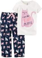 """Carter's Girls 4-14 I am the Cats Pajamas"""" Top & Bottoms Pajama Set"""