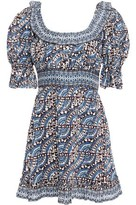 Sea Luella Ruffle-trimmed Printed Ramie Mini Dress