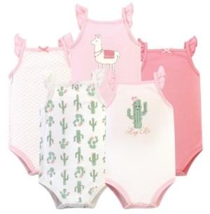Hudson Baby Girl Sleeveless Bodysuits, Pack of 5