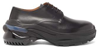 Maison Margiela Cross Exaggerated Sole Leather Derby Shoes - Mens - Black
