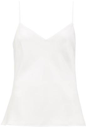 Galvan V-neck Satin Camisole - White