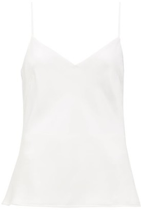Galvan V-neck Satin Camisole - Womens - White