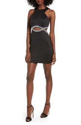 Speechless Embellished Infinity Waist Body-Con Dress