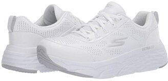 Skechers Max Cushioning Elite - Step Up (White/Silver) Women's Running Shoes