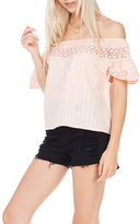 Everly Peach Off The Shoulder Top