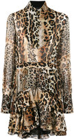 Just Cavalli leopard print dress - women - Silk/Viscose - 40