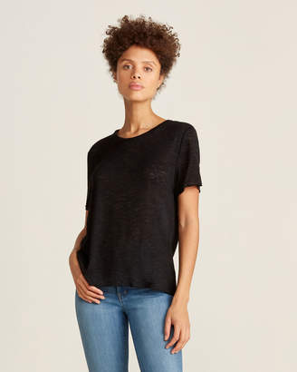 Project Social T Black Basic Textured Tee