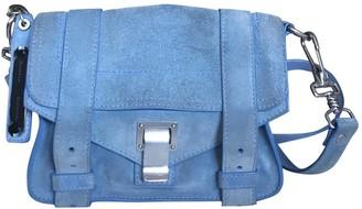 Proenza Schouler PS1 Blue Suede Handbags