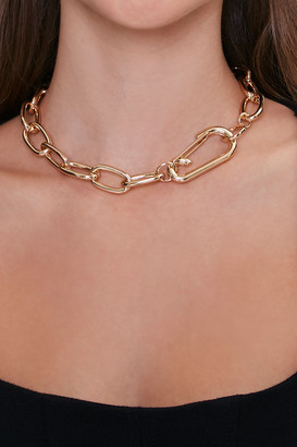Forever 21 Anchor Chain Choker Necklace
