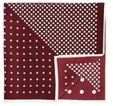 MANGO Printed silk pocket square