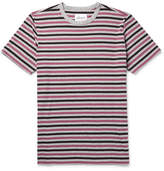 Albam - Mélange Striped Cotton-jersey T-shirt - Gray