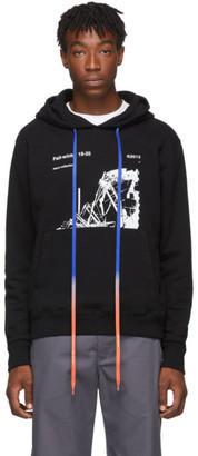 Off-White Black and White Ruined Factory Slim Hoodie